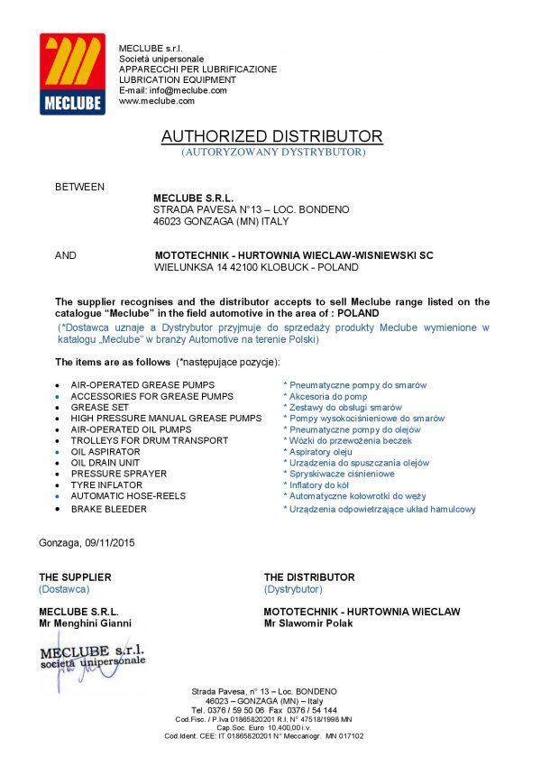 MECLUBE List Dystrybucyjny MOTOTECHNIK 600x849